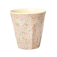 Pink Small Flower Melamine Cup Rice DK