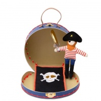 Mini Pirate Doll with Suitcase By Meri Meri