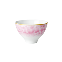 Porcelain Bowl With Glaze Print In Bubblegum Pink By Rice DK