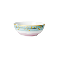 Porcelain Breakfast Bowl With Dip Dye Print By Rice DK