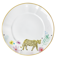Porcelain Dinner Plate Wild Leopard Print By Rice DK