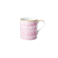 Porcelain Mug With Glaze Print in Bubblegum Pink By Rice DK