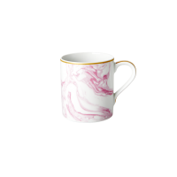 Porcelain Mug With Marble Print in Bubblegum Pink By Rice DK