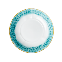 Porcelain Pasta Bowl Glaze Print In Jade By Rice DK