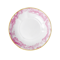 Porcelain Pasta Bowl Marble Print In Bubblegum Pink By Rice DK