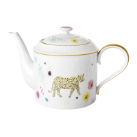 Porcelain Teapot With Wild Leopard Print By Rice DK