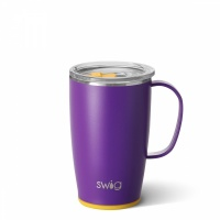 Purple & Yellow Coloured 18oz Travel Mug By SWIG