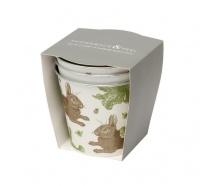 Rabbit & Cabbage Print Set of 3 Plant Pots By Thornback & Peel