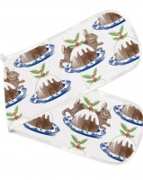Rabbit and Pudding Print Double Oven Glove Thornback & Peel