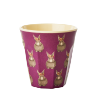 Rabbit Print Small Melamine Cup By Rice DK