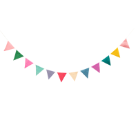 Colourful Raffia Garland By Rice DK