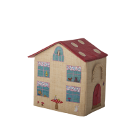 Small High Rise Style Raffia Toy Basket House By Rice DK