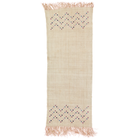 Raffia Table Runner with Embroidered Flowers By Rice DK