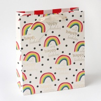 Rainbow Large Gift Bag By Caroline Gardner