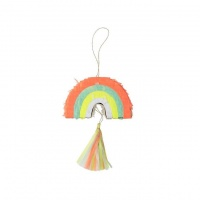 Set of 3 Rainbow Party Favour Pinatas By Meri Meri