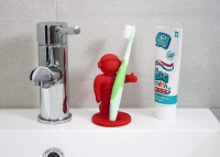 Red Apollo Astronaut Toothbrush Holder For Kids By j-me