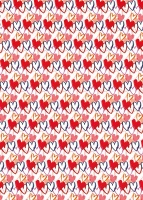 Red Heart Print Wrapping Paper