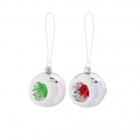 Medium Christmas Glass Baubles Red or Green By Rice DK