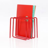 Block Desktop Magazine Rack in Red