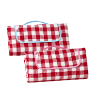 Red Check Picnic Blanket by Rice DK