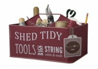Burgon & Ball Red Shed Storage Caddy