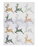 Reindeer Glitter Stickers By Meri Meri