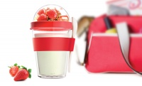 YO2GO Red Breakfast Reusable Yogurt To Go Container