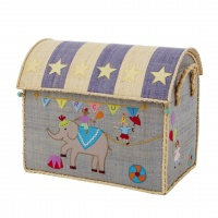 Medium Sized Circus Raffia Toy Storage Baskets Rice DK