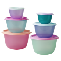 Rice DK Set of 3 Colourful Round Food Storage Containers