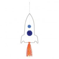 Hanging Wool Wrapped Wire Rocket Mobile By Meri Meri