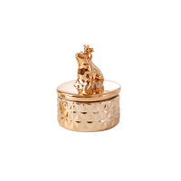 Rose Gold Porcelain Trinket Box With Frog by Rice DK
