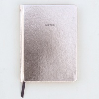 Rose Gold Metallic Hardback Notebook By Caroline Gardner