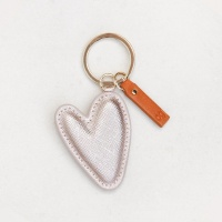 Rose Gold Metallic Heart Shaped Keyring By Caroline Gardner