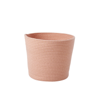 Round Rope Storage Basket Coral By Rice DK