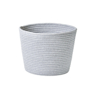 Round Rope Storage Basket Silver Grey By Rice DK