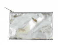 Silver Metallic Pencil Case