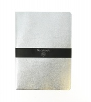 Silver Metallic Lined Notebook