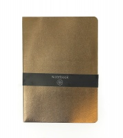 Gold Metallic Lined Notebook