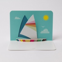 Sailing Boat 3D Greeting Card By FORM