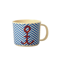 Baby Melamine Cup with Handle Sailor Stripe Print Rice DK
