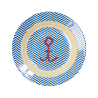 Sailor Stripe & Anchor Print Melamine Kids Bowl Rice DK