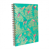 Sara Miller A4 Birds In A Tree Green Design Notebook