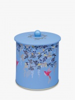 Hummingbird Print Chelsea Collection Biscuit Barrel Tin By Sara Miller