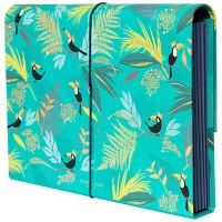 Green Toucan Bird Print Expander File By Sara Miller