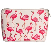 Flamingo Print Cosmetic Bag By Sara Miller