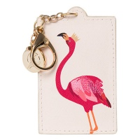 Flamingo Print Luxury Keyring By Sara Miller
