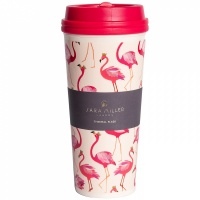 Sara Miller Pink Flamingo Thermal Travel Cup