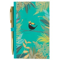 Green Toucan Print Notebook & Pen By Sara Miller