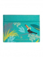 Green Toucan Tropical Print Travel Card Holder by Sara Miller