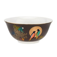 Dark Grey Bird Print Bowl Chelsea Collection Sara Miller London